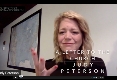 A Letter to the Church: Judy Peterson